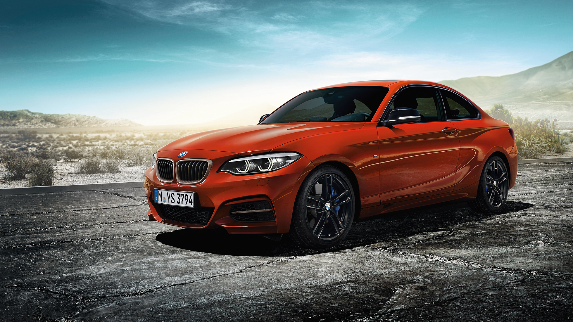 BMW 2 Series Coupé, still shot of the front