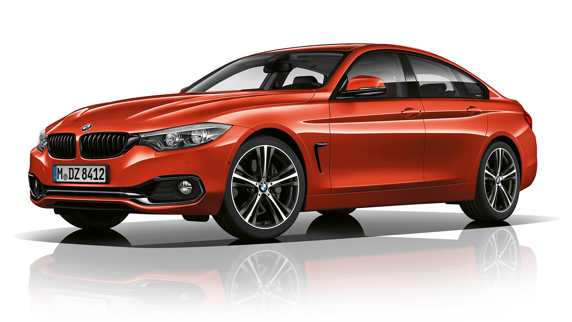 BMW 4 Series Gran Coupé, Model Sport Line three-quarter front shot